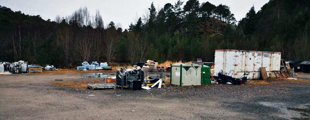 Bjørndalen gjenvinningsstasjon stengt