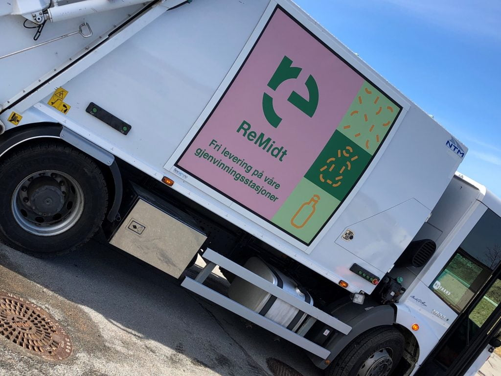 Mobile recycling station on Mausund and Sula