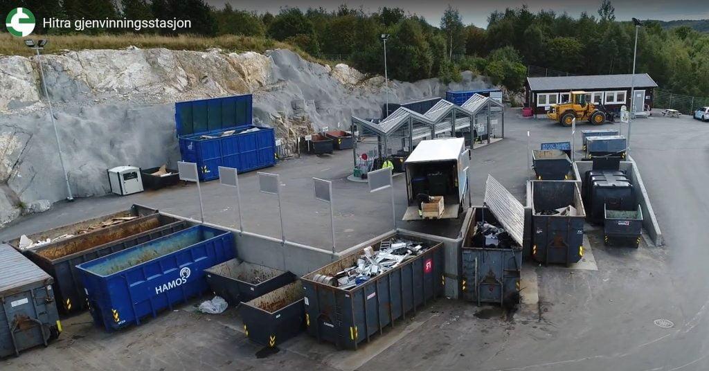 Estação de reciclagem de Hitra fechada devido à quarentena