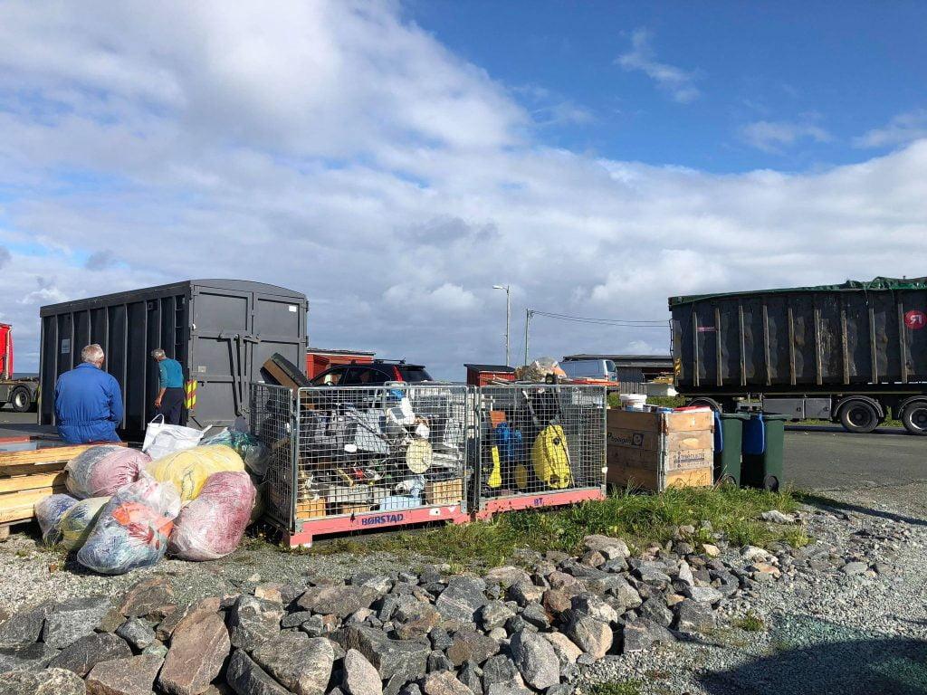 Mausund - estação móvel de reciclagem